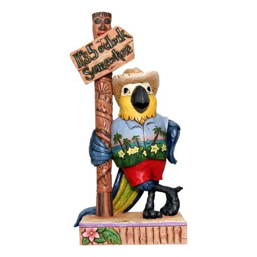 "Jim Shore Margaritaville Parrot by Sign Post - 6"" Figurine - 6001072"