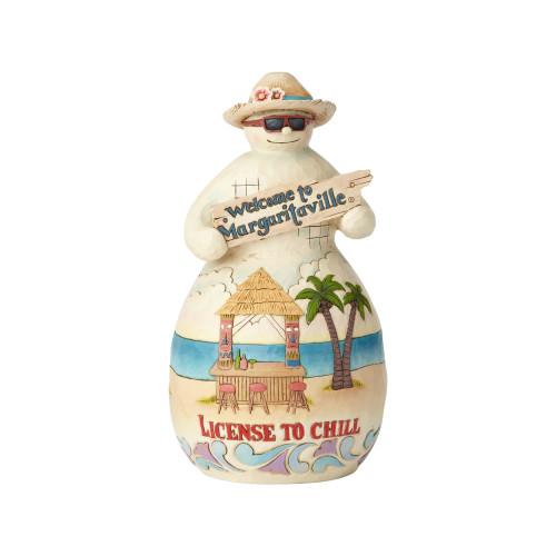 "Jim Shore Margaritaville Tiki Snowman - 8"" Figurine - 6001537"