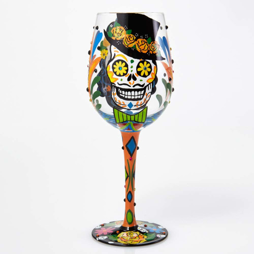 Day of Dead Sugar Skulls Lolita Wine Glass  - 15 oz - GLS11-5544E