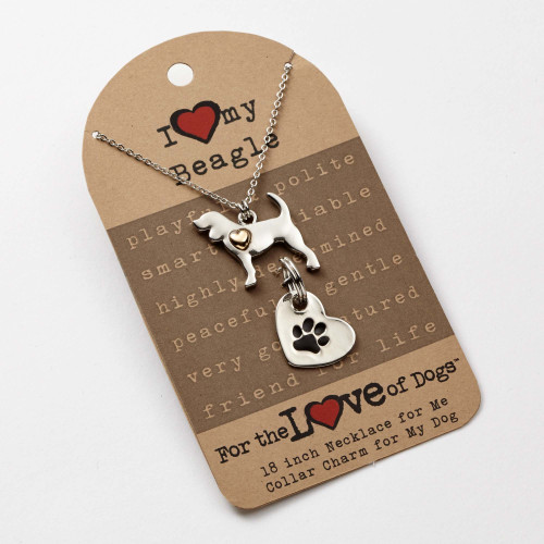 Love of Paws Beagle Pendant Necklace and Charm Set - 4051088