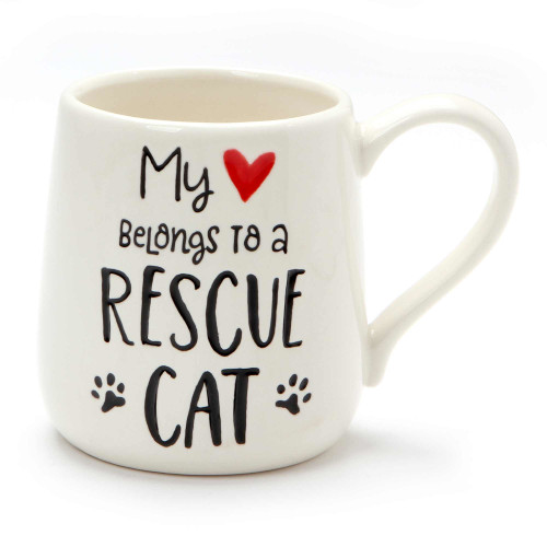 My Heart Belongs to My Rescue Cat Stoneware Mug - 6001250