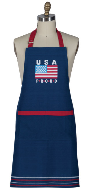 USA Embroidered Apron