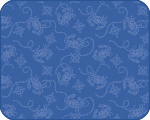 Embossed Blue Crabs Nautical Compass Kitchen Countertop Drying Mat A8937