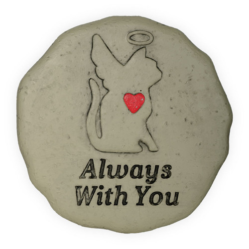 Pet Memorial Cat Angel Always With You Garden Stone 49800F