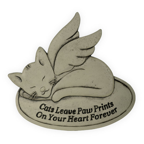Pet Memorial Cat Prints on Your Heart Garden Stone 49800D