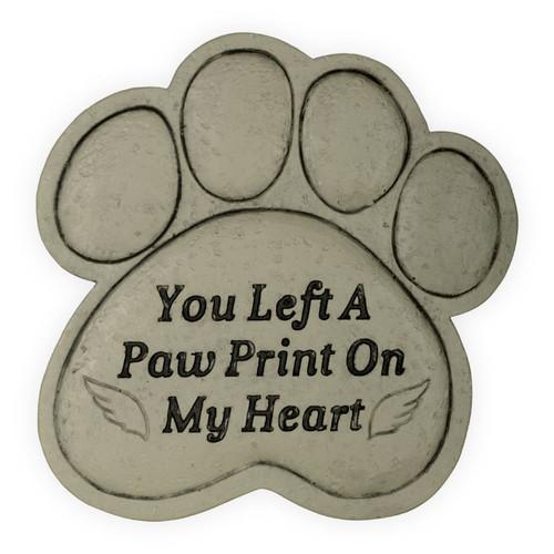 Pet Memorial You Left a Paw Print Garden Stone 49800B