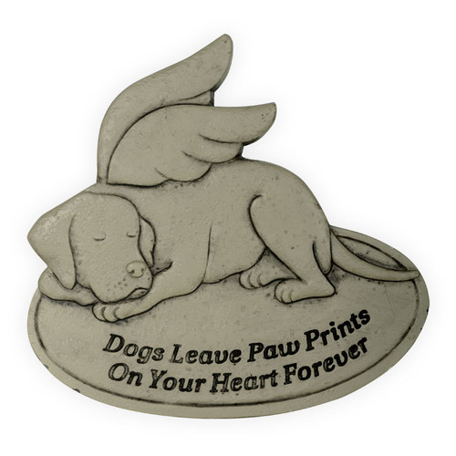 Pet Memorial Dog Prints on Your Heart Garden Stone 49800C