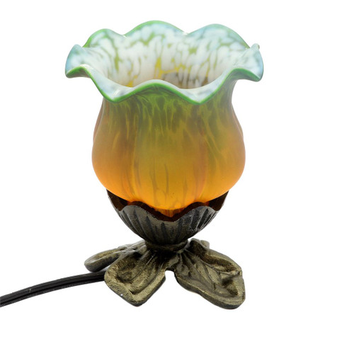 Flower Green Orange Accent Table Lamp 11755-LAMP