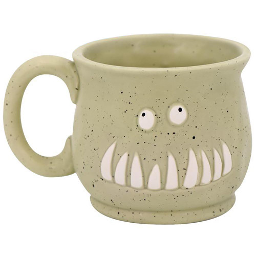 Toothy Smiling Monster Mug - 11476-SEAFOAM