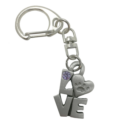 Keychain Love With Paw Prints - Key Chain 9002KP