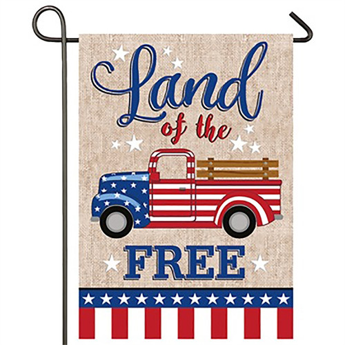 Patriotic Truck - Suede Garden Flag