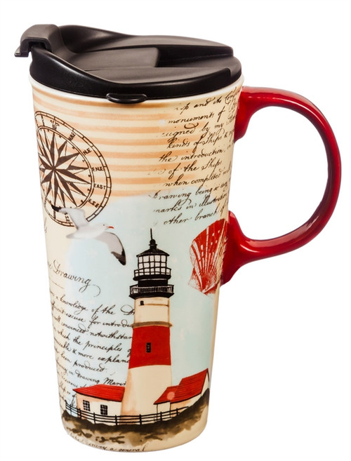 Northeast Lighthouse Ceramic Travel Cup - 17oz