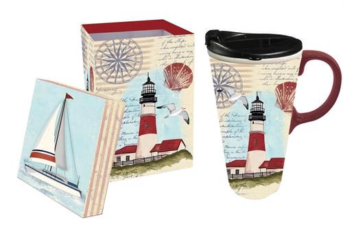 Northeast Lighthouse Ceramic Travel Cup - 17oz - 3CTC147