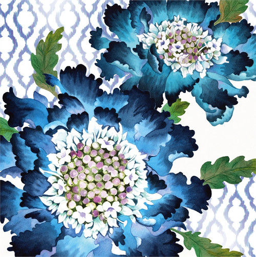 Blooming Blue - Paper Cocktail Napkin - 20 count - 4NC7083