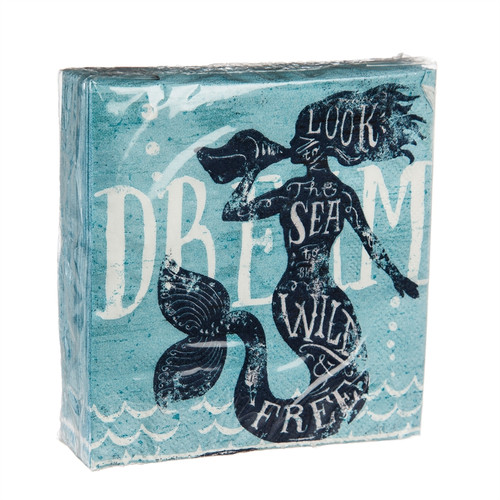 Mermaid Dream 40 count 3ply - Cocktail Napkin - 4NC7083