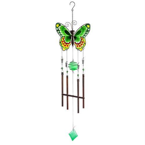 Green Butterfly Garden Wind Chime ZAH2WC1689A