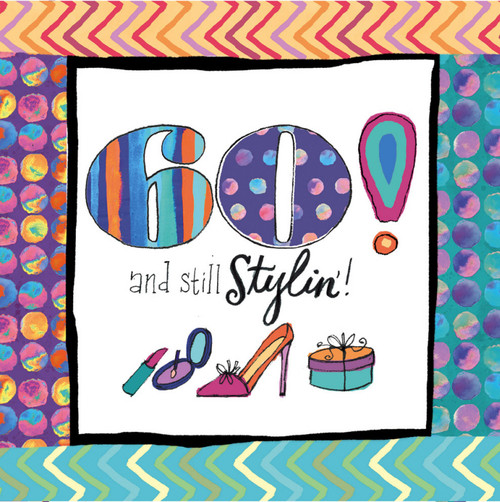 60th Birthday 20 count 3ply - Cocktail Napkin - 4NC8160
