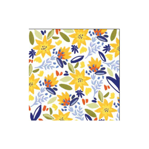 Yellow Florals 40 count 3ply - Cocktail Napkin - Z4NC7623