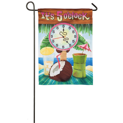It's 5 O'clock - Suede Garden Flag - 18 x 12 - 14S8519