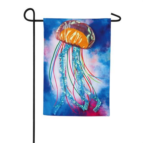 Jellyfish Flag - Linen Garden Flag - 18 x 12 - 14L9188