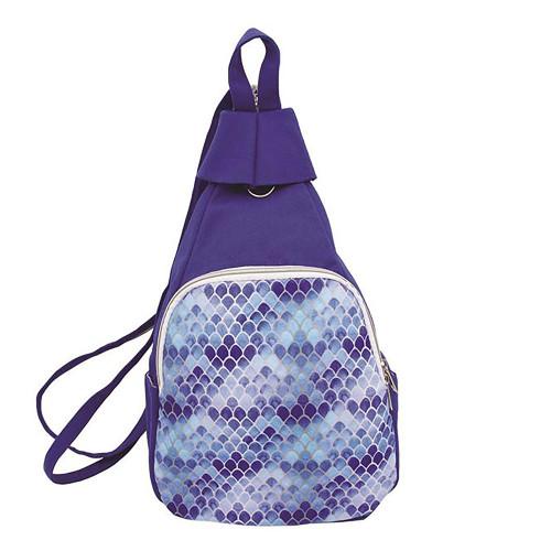 Blue Mermaid Blue Canvas Backpack