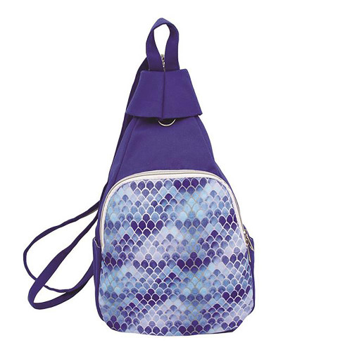 Blue Mermaid Blue Canvas Backpack
