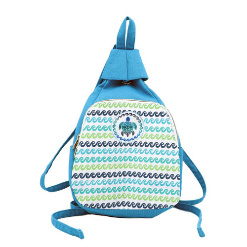 Sea Turtle Blue Canvas Backpack 11378-BLUE