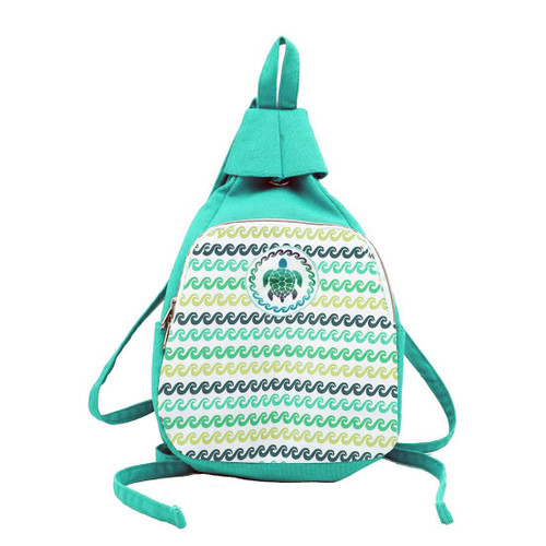 Sea Turtle Green Canvas Backpack 11378-GREEN