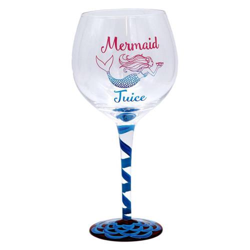 Mermaid Juice Hand Painted 18oz Wine Glass - 11209B