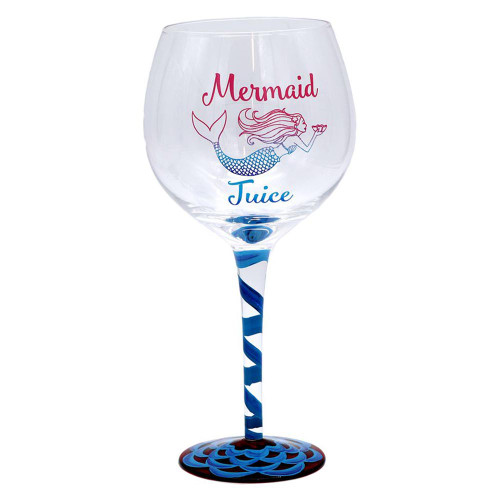 Mermaid Juice Hand Painted 18oz Wine Glass - 11209B