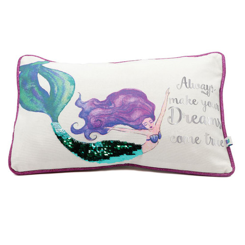 Mermaid Pillow - Always Make Your Dreams Come True - 11656