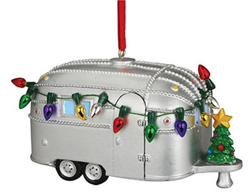 Camper with Christmas Lights Ornament   874-72