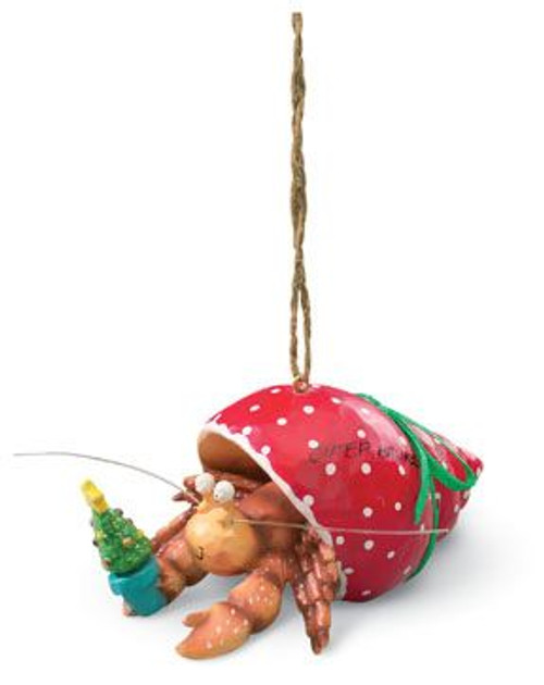 Holiday Hermit Crab Christmas Ornament - 863-20