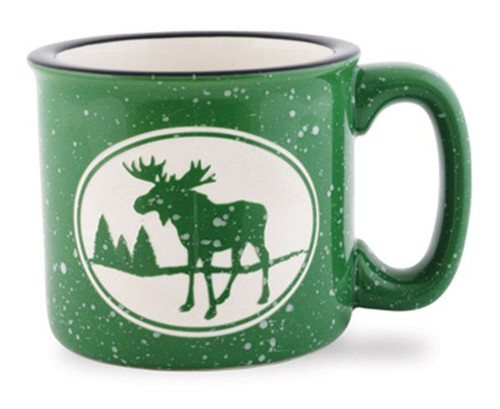 Moose Camp Coffee Mug - Green 733-02