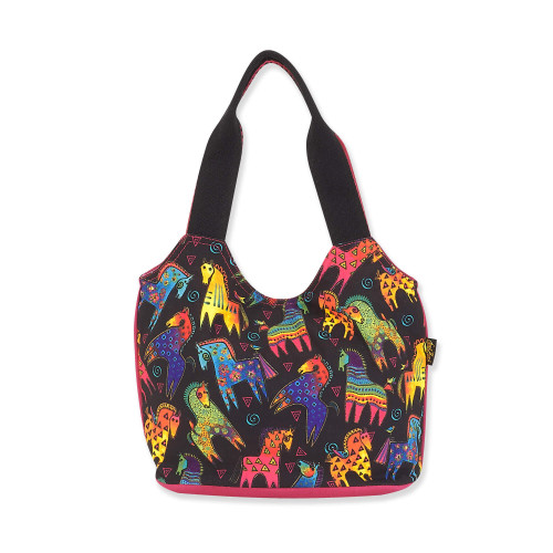 Laurel Burch Colorful Mares Canvas Small Scoop Tote – LB8241