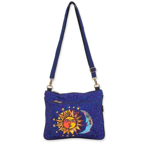 Laurel Burch Celestial Sun and Moon Canvas Crossbody Tote – LB8081