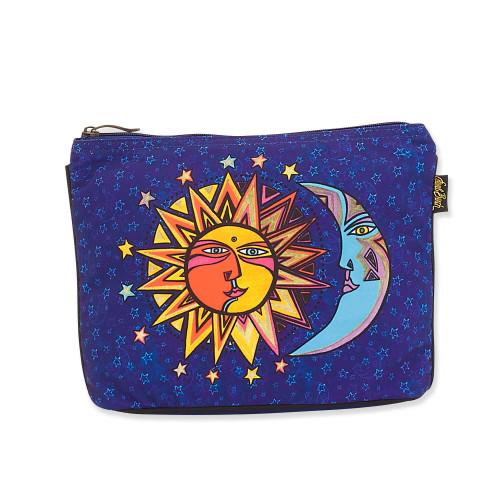 Laurel Burch Celestial Sun and Moon Canvas Cosmetic Bag – LB8082