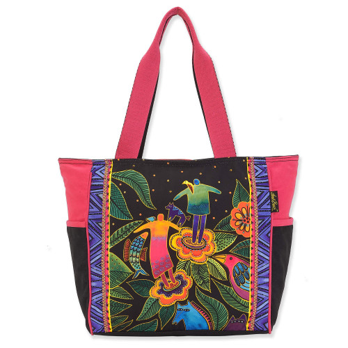 Laurel Burch Spirit in Bloom Canvas Shoulder Tote – LB8210