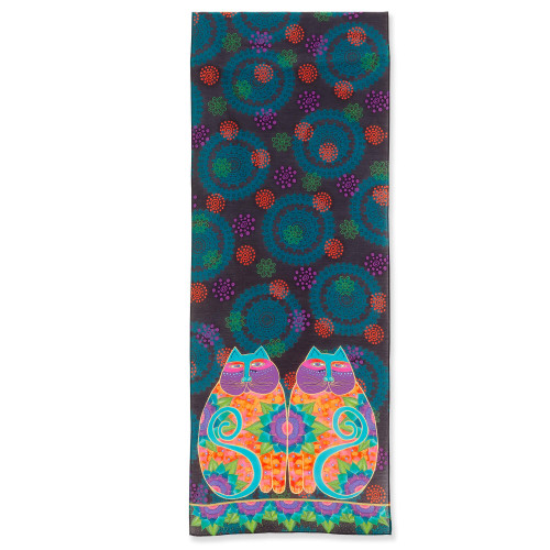 Laurel Burch Lotus Cats Scarf – Modal and Silk – LBS223