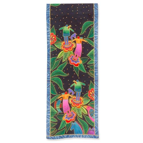 Laurel Burch Flowering People Scarf – Modal and Silk – LBS224