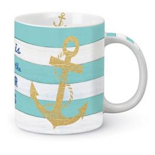 Striped Anchor Coffee Mug 815-25