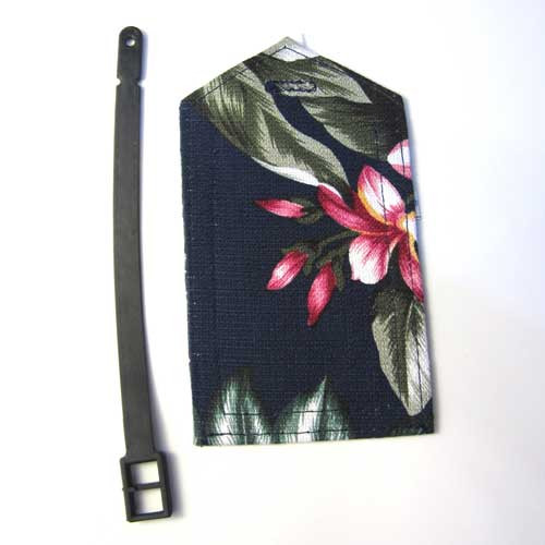 Luggage Tag Tropical Flowers Fabric - 51219