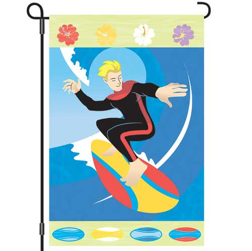 Sunshine Surfer Garden Flag 12x18 51617