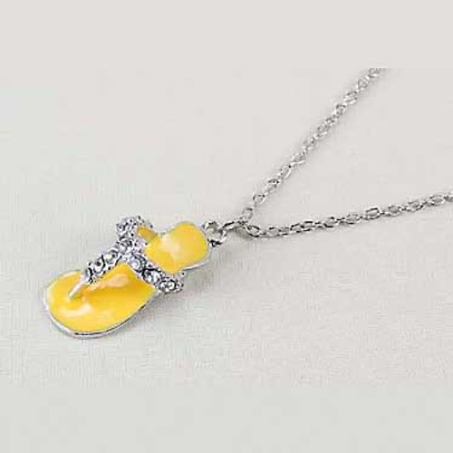 Yellow Flip Flop Necklace 53055