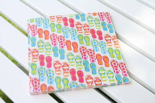 Flip Flops Theme Paper Dinner Napkins - 55130