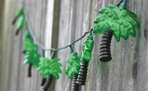 Palm Tree String Lights 8' Long Strand - 75075