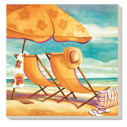 Sunkissed Beach Palm Stone Coasters 4 Pack 87029
