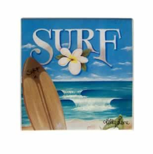Surf Theme Ceramic Trivet Set of Two - 91050