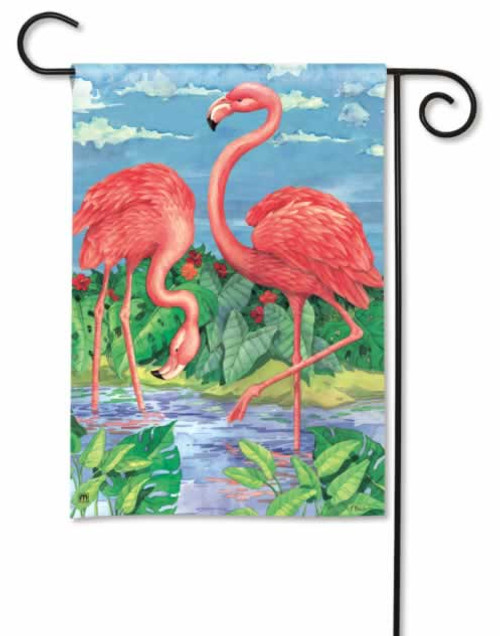 "Pink Flamingo ""Flamingos in Paradise"" House Flag 28"" x 40"" 96811"