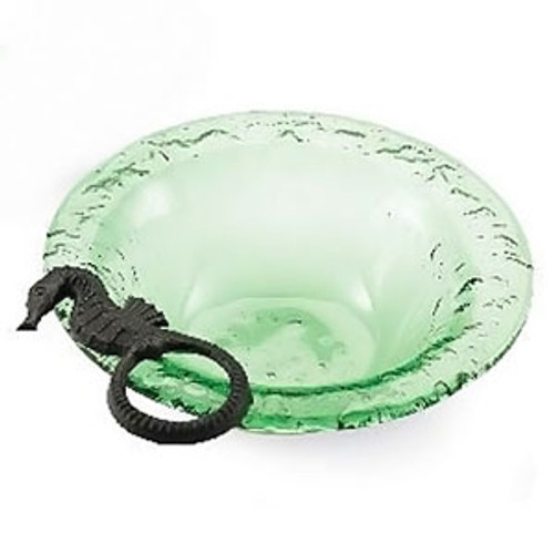 Seahorse Green Glass Bowl 105286